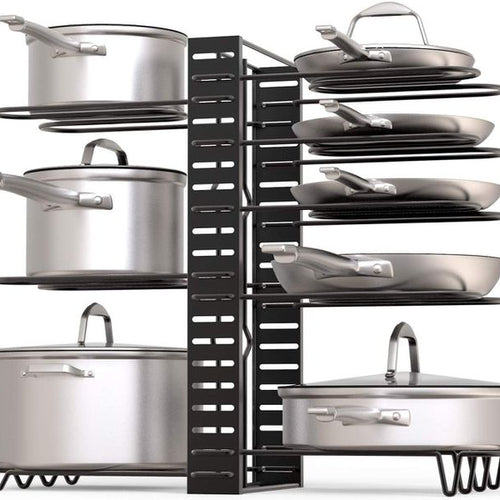 Adjustable 8 Rack Pot and Pan Organiser