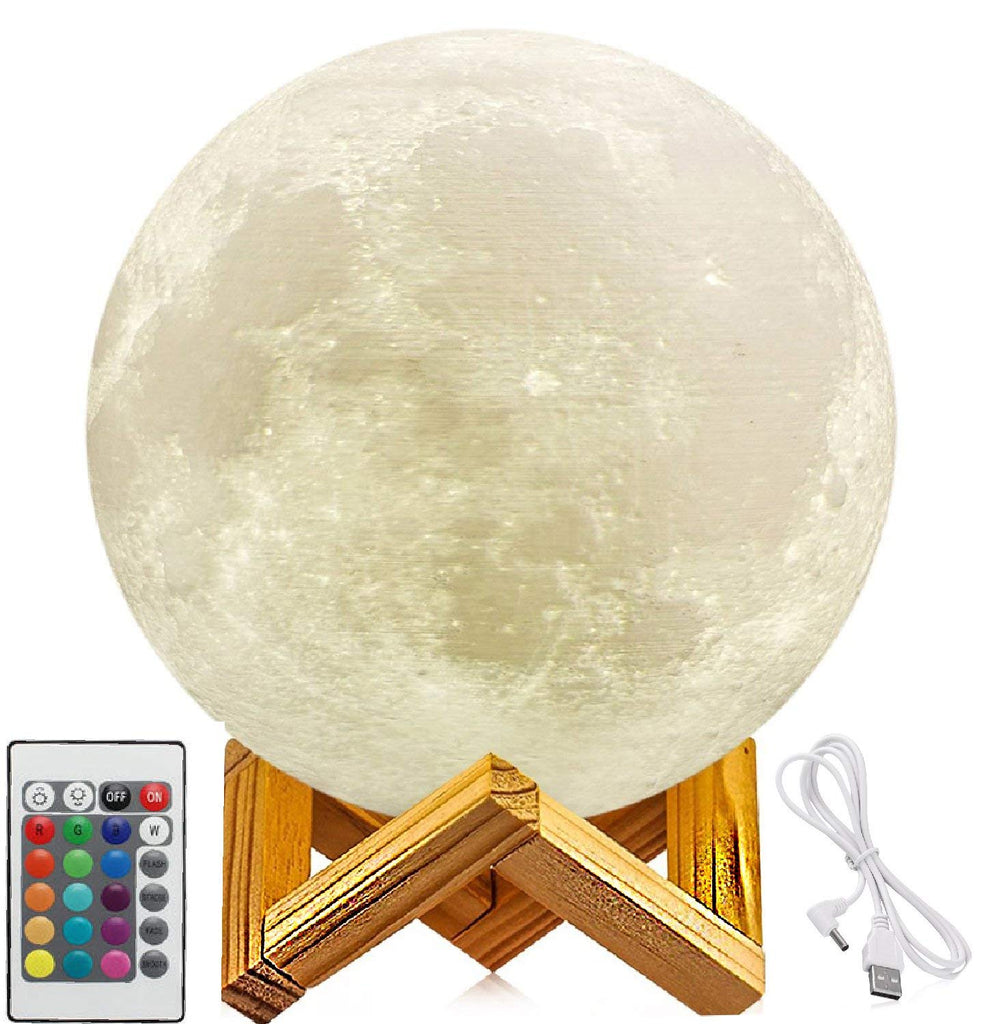 16 Colour 3D Moon Lamp - 15cm Diameter | Monthly Madness