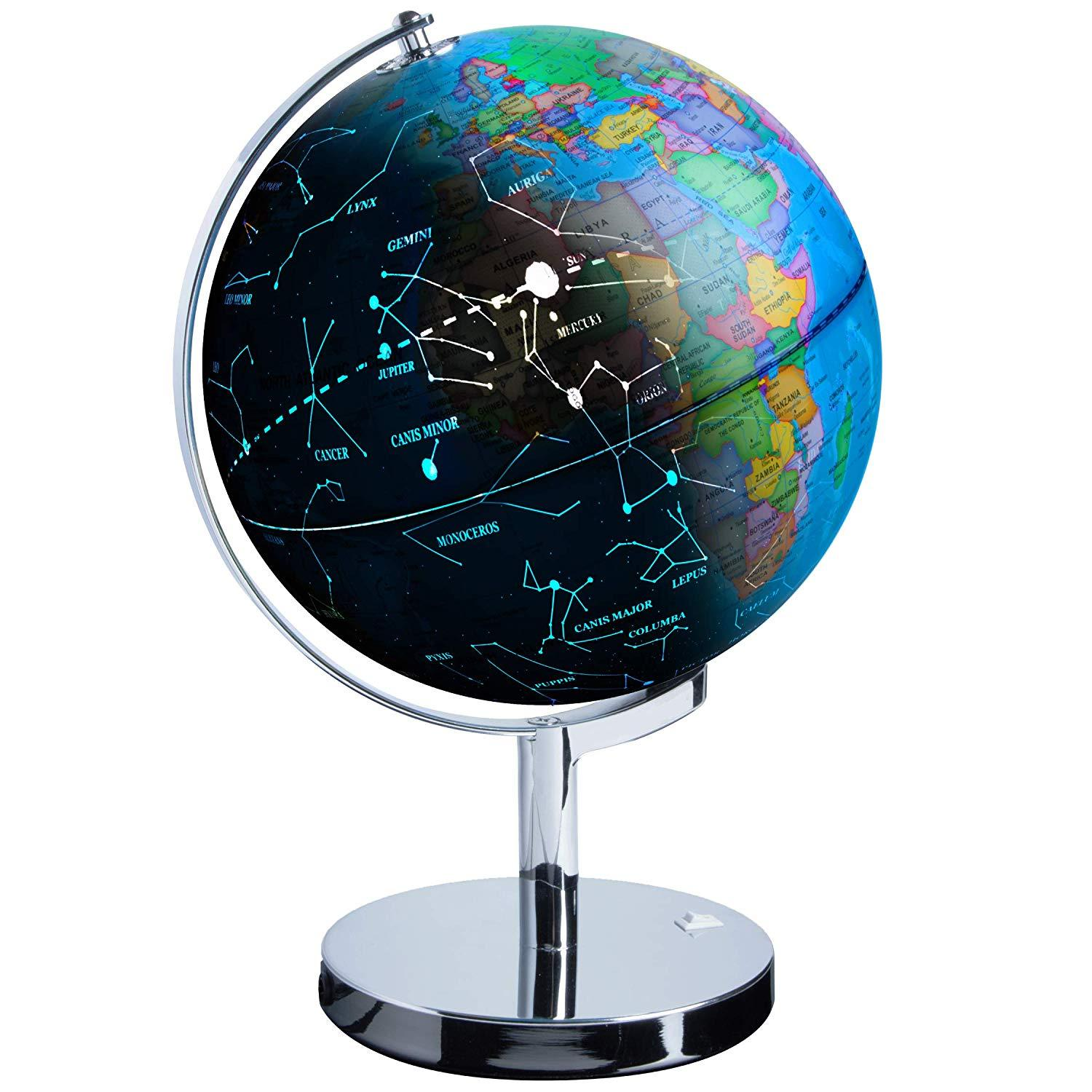 JuniorFX 3 in 1 Interactive Illuminated World Globe with Constellations | Monthly Madness