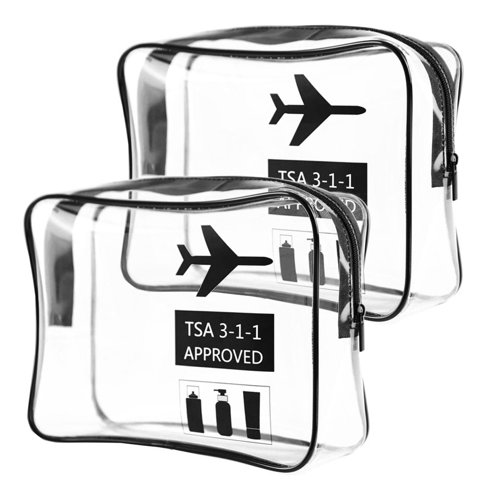 Transparent Travel Toiletry Bag - 2 Set | Monthly Madness