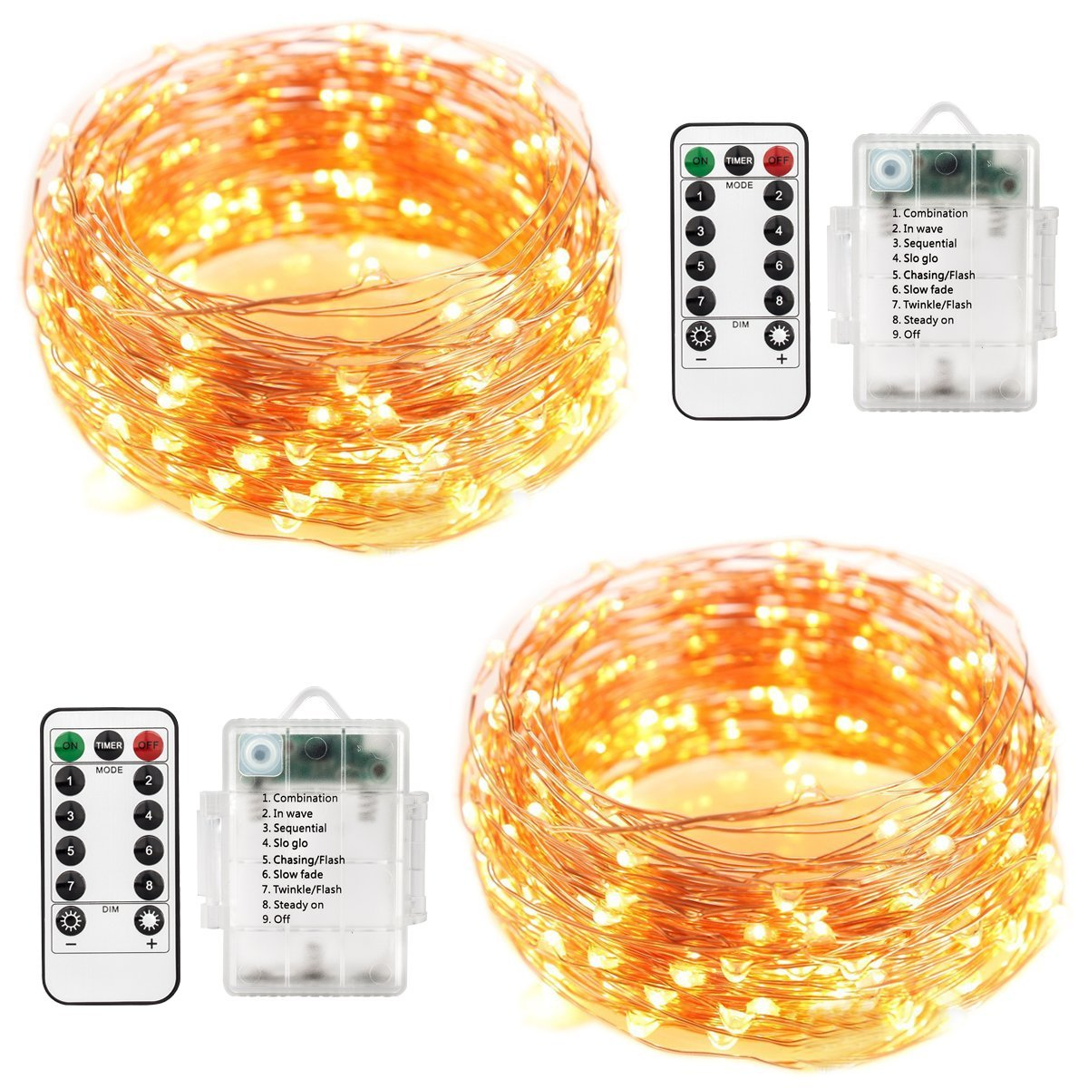 Battery Powered Warm White Fairy Light & Remote Set | Monthly Madness