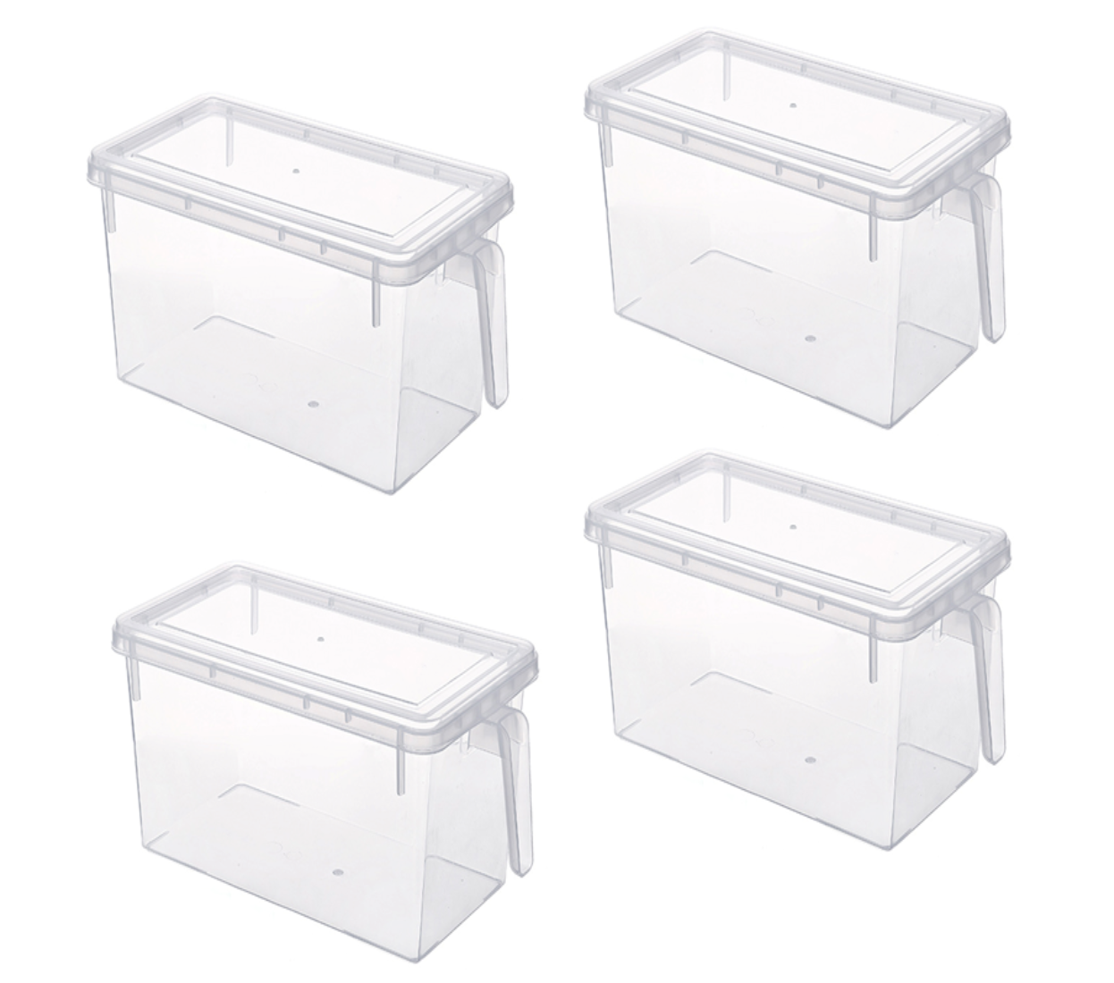 Maisonware Transparent PP Storage Box Set of 4