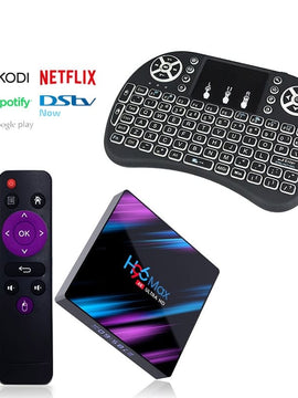 Ntech H96 Max 4K HD Android 9 TV Box with i8 Mini Keyboard