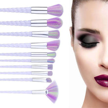 Load image into Gallery viewer, ABC Makeup Unicorn Makeup Brush Gold - 10 Piece Set | Monthly Madness
