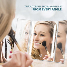 Load image into Gallery viewer, Jerrybox LED Foldable Trifold Rotating Makeup Mirror | Monthly Madness