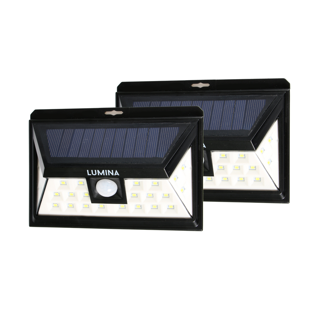 Lumina 24 LED Motion Sensor Solar Light - 2 Pack | Monthly Madness