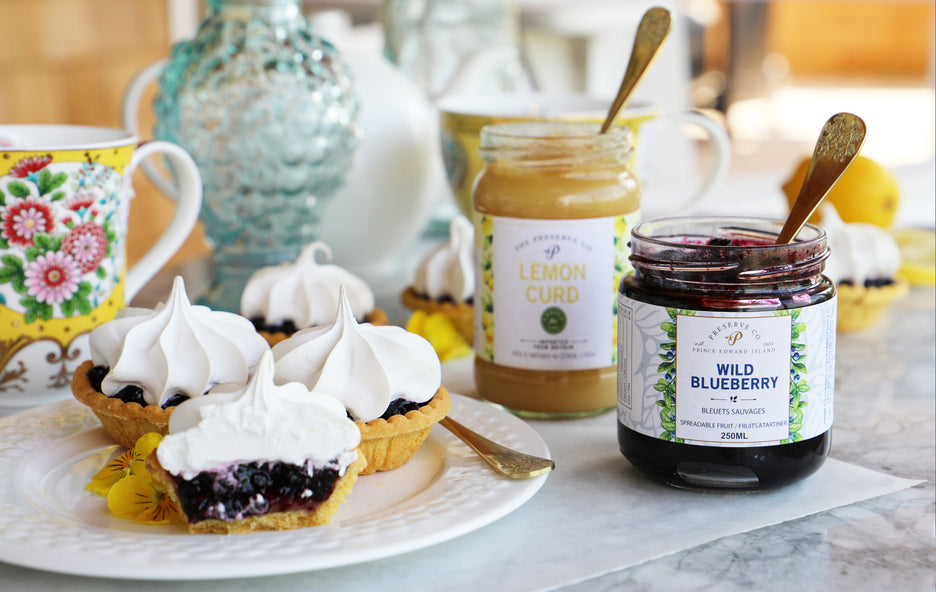 Preserve Company Blueberry Lemon Meringue Tarts