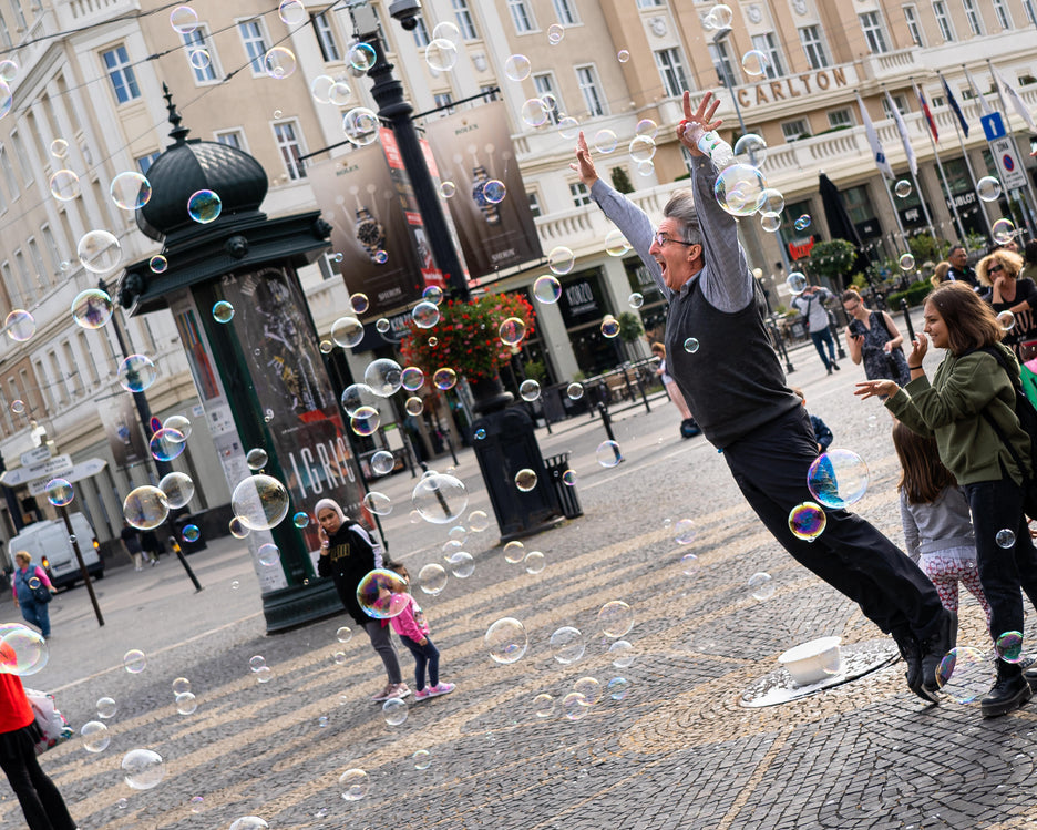 Chasing Bubbles in Bratislava, Thinking in the Clouds, My Favourite Exercise