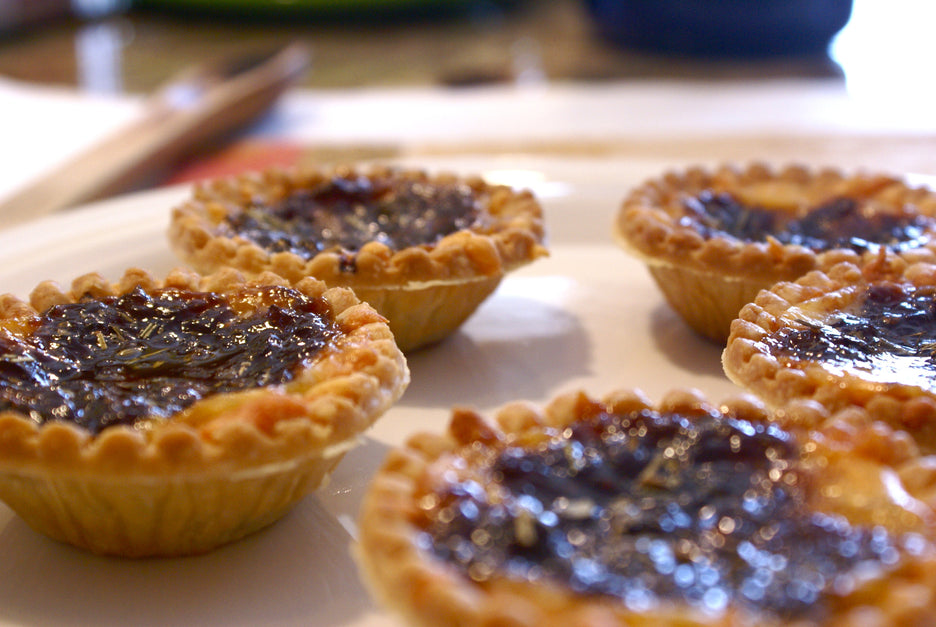 Carmelized Onions with Fig and Cheese Tartlets