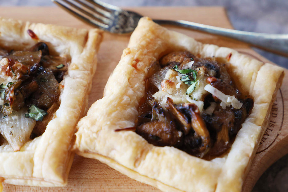 Mushroom and Onion Pastries