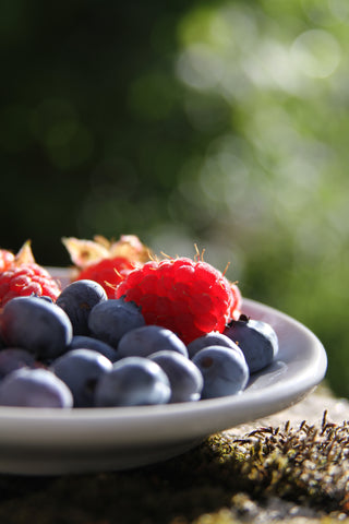 healthy option blueberry raspberry