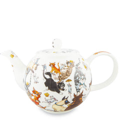 Large Dunoon Teapot, Cats Galore