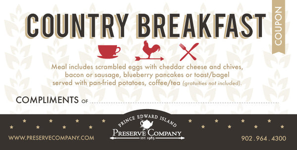 Country Breakfast Coupons Package
