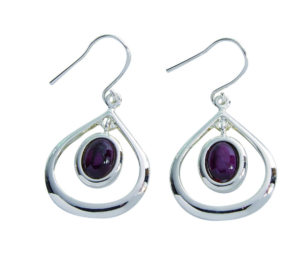 Heather Gems, HE41, Teardrop Drop Earrings