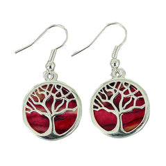 Heather Gems, HE89, Plated Tree of Life Earrings