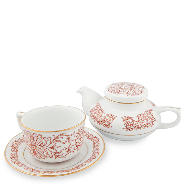 Teapot, Executive Tea Set Red