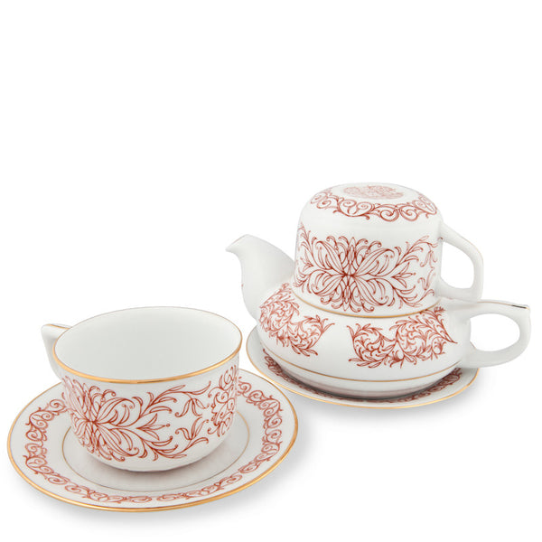 Teapot, Romance Tea Set Red