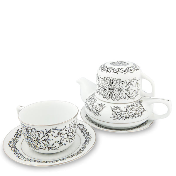 Teapot, Romance Tea Set Black