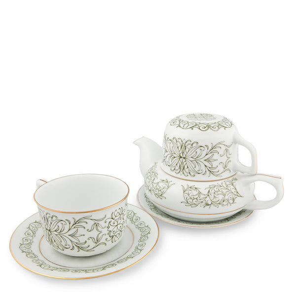 Teapot, Romance Tea Set Green