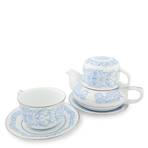 Teapot, Romance Tea Set Blue