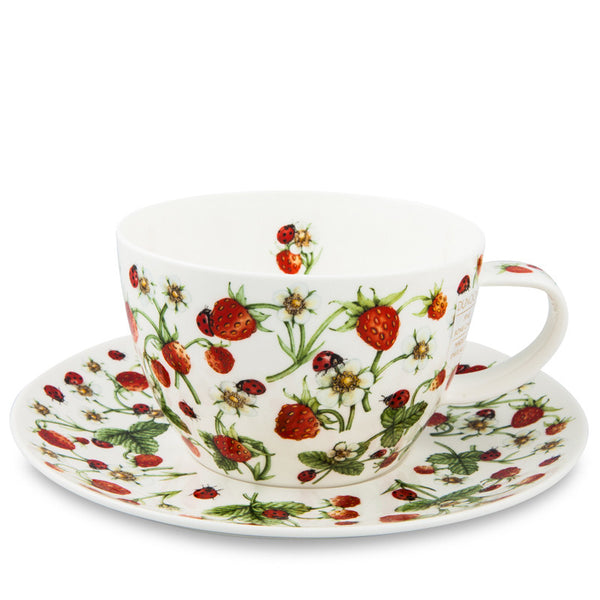 Dunoon Breakfast Cup & Saucer, Dovedale Strawberry
