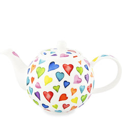Large Dunoon Teapot, Warm Hearts