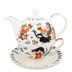 T4One Teapot, Cats Galore by Dunoon