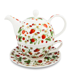 T4One Teapot, Dovedale Strawberry by Dunoon