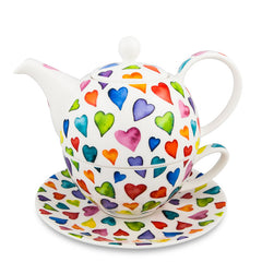 T4One Teapot, Warm Hearts by Dunoon