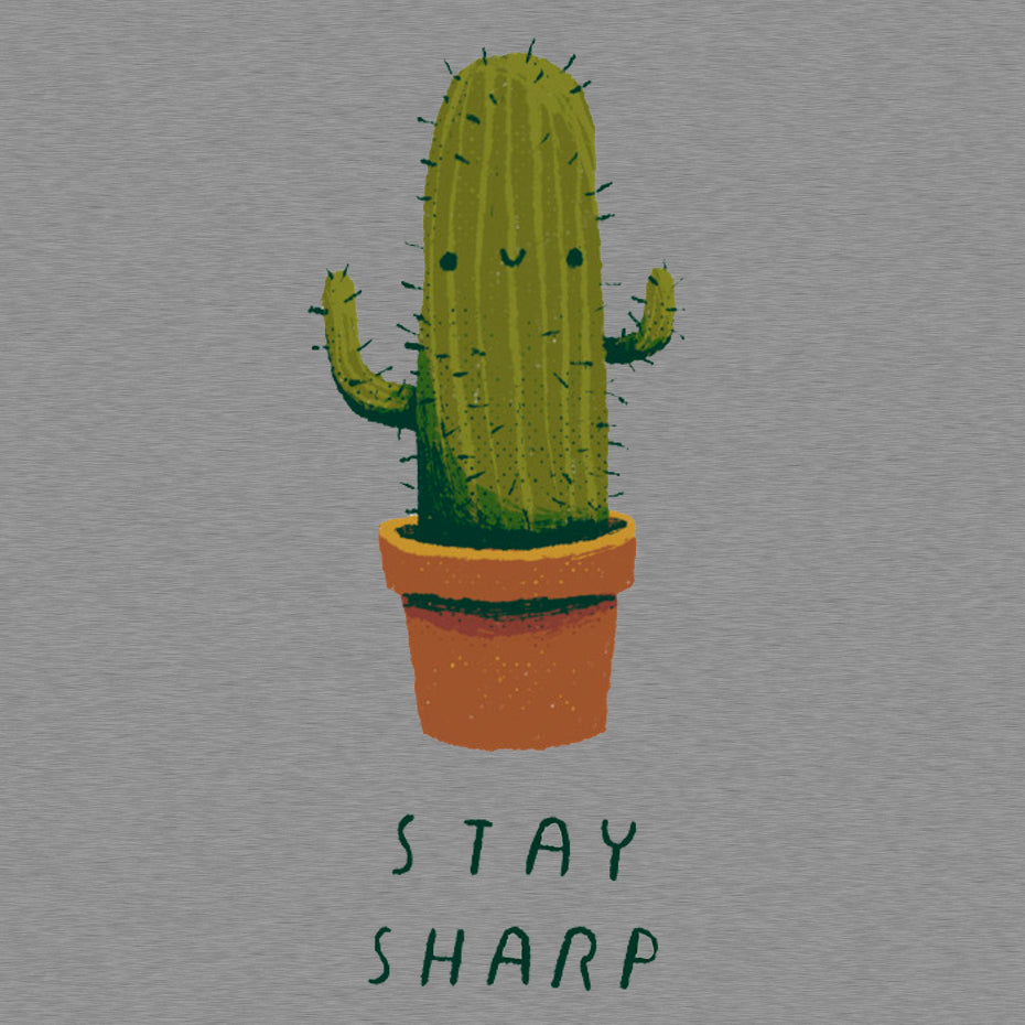 Stay Sharp Grey T-Shirt