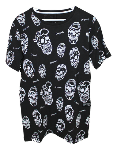 Hipster Skull All Over Print T-Shirt