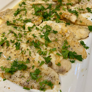 Dover Sole Meuniere with Garlic & Shallot butter