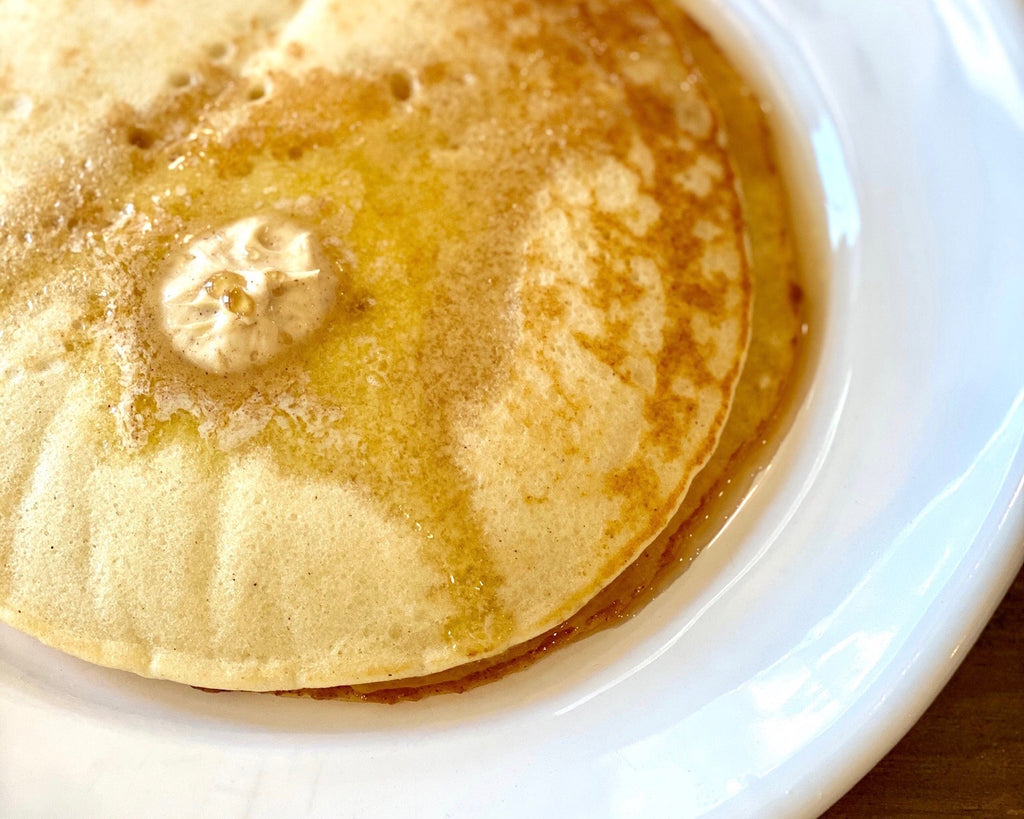 Lemon Ricotta Pancakes with Maple and Cinnamon Butter (gluten free!)