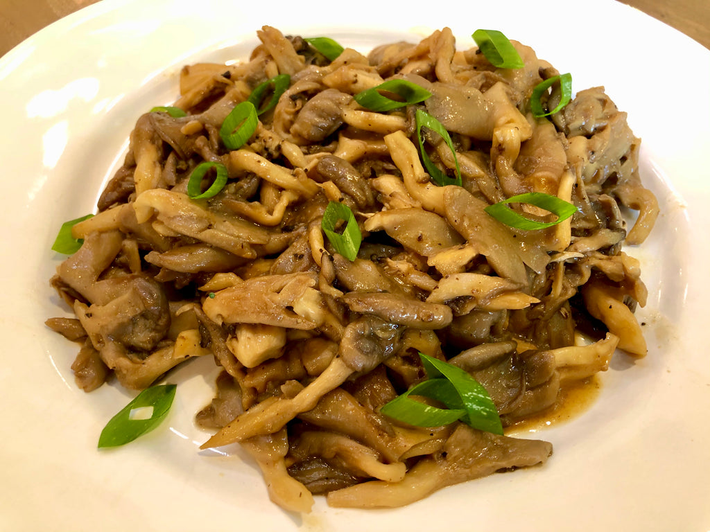 oyster mushrooms with miso butter