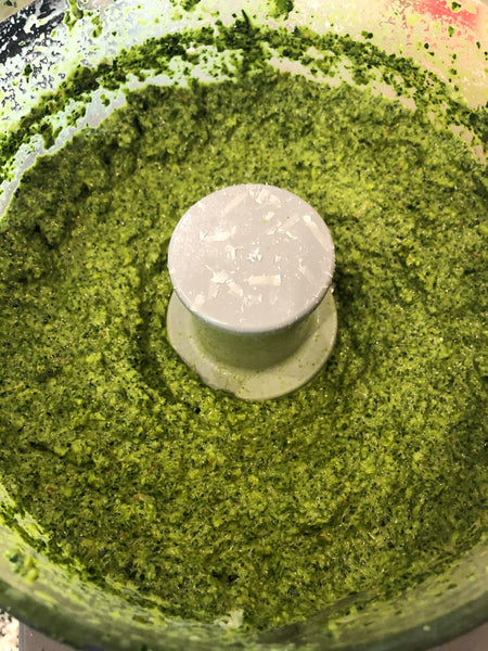 kale pesto with churn pesto butter
