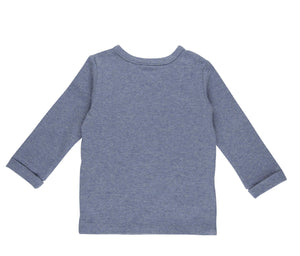 Baby-Wickelshirt Ocean Melange Langarm Little Dutch