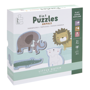 Little Dutch 6-in-1 Puzzles - Zootiere