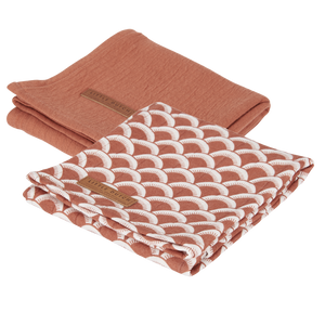 Swaddle Tuch 70x70cm Set aus 2  Sunrise Kollektion