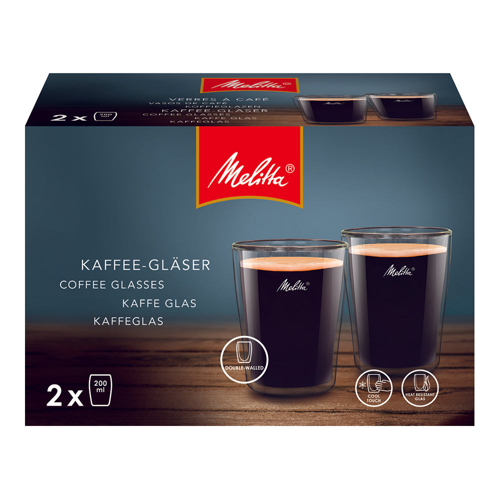 Double Walled Coffee Glasses – 2 PCS (200 ML Each)