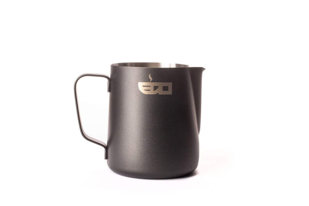 """EDO BARISTA"" BLACK STAINLESS STEEL MILK PITCHER - 350 ml/12 oz"
