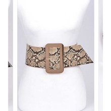 Load image into Gallery viewer, Snake Skin Print Belt
