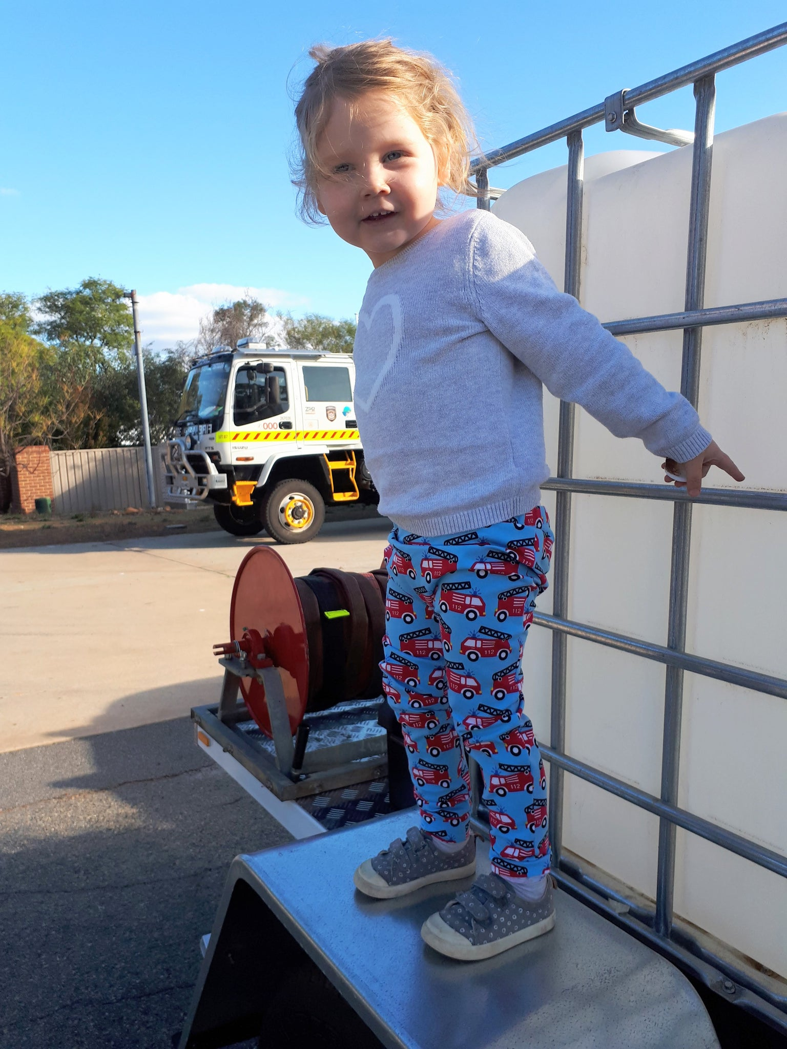 Australian Handmade Pants (Fire Trucks)