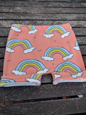 Australian Organic Cotton Orange Rainbow Shorts