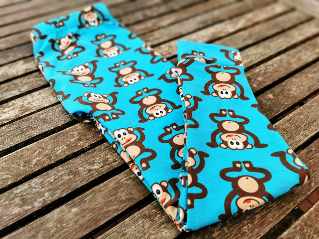 Australian Handmade Leggings (Blue Monkey)