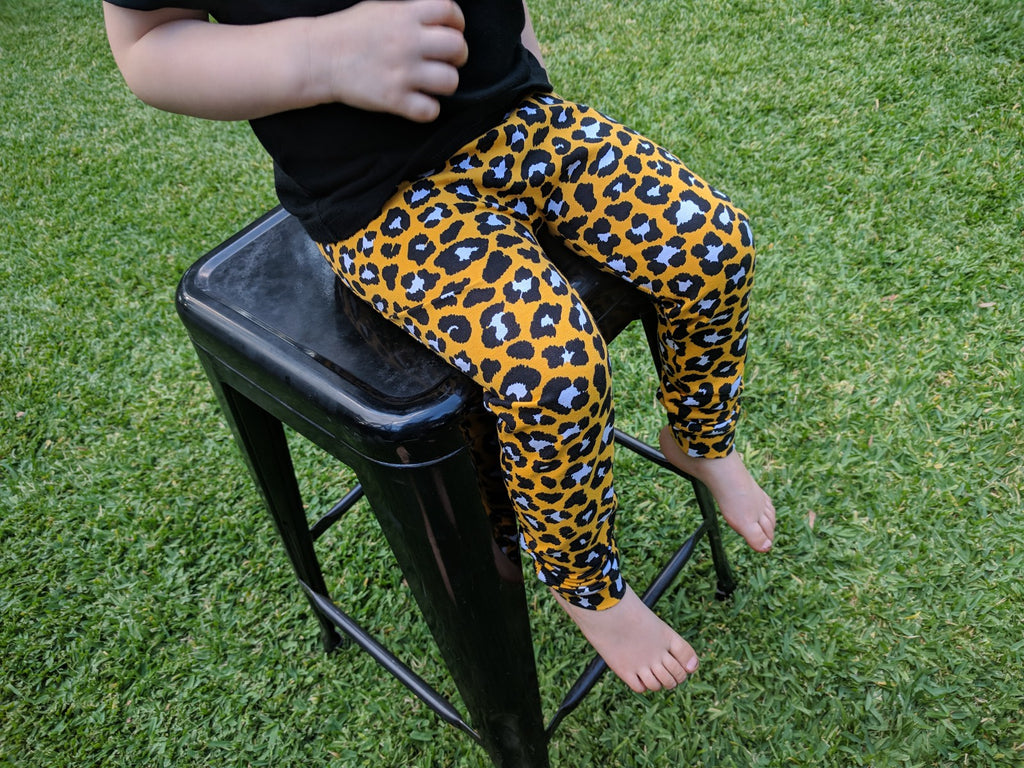 Australian Handmade Leggings (Yellow Leopard)