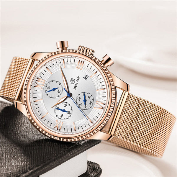 BENYAR Top Brand Chronograph Quartz Wristwatch