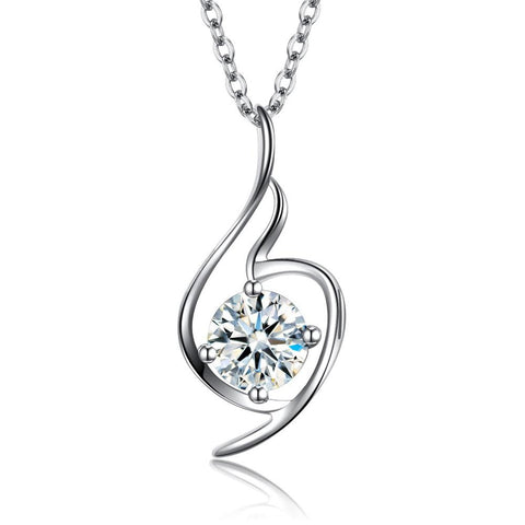 CZ Stone Angel Pendant Necklace