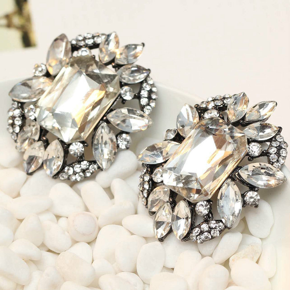 Crystal Hover Stud Earrings