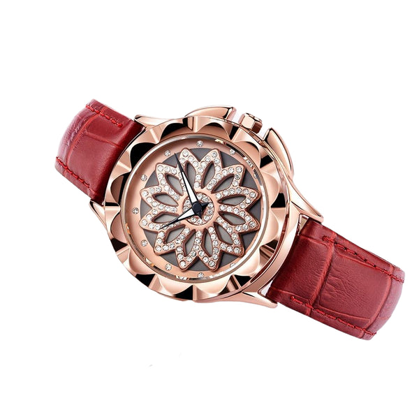 MEGIR Top Brand Leather Strap Luxury Lovers Quartz Wristwatch