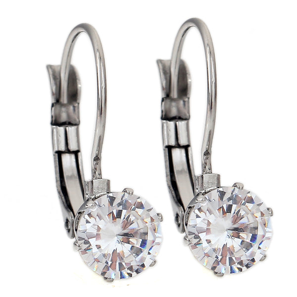 Crystal Stud Zirconia Earrings
